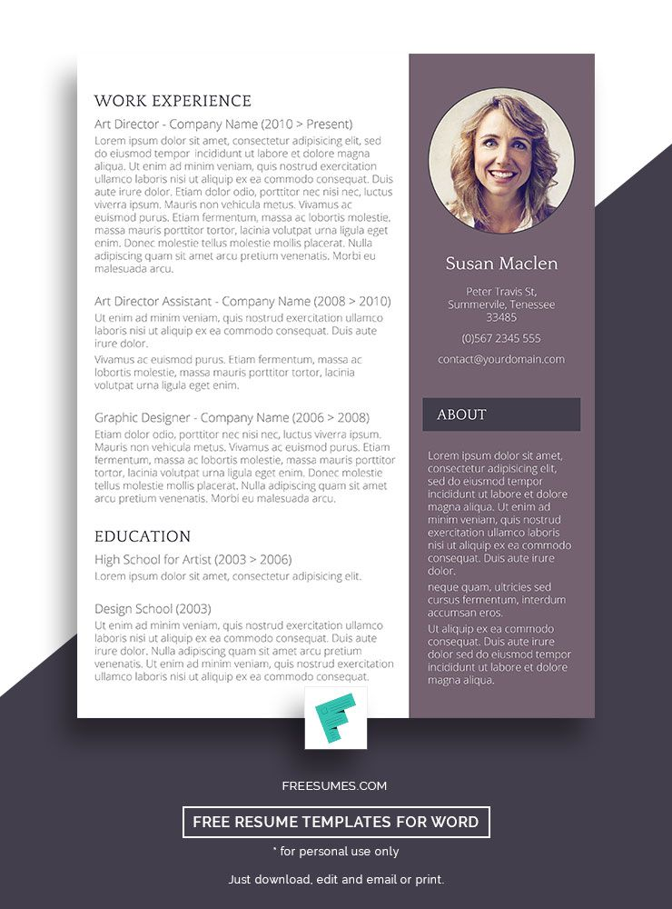 Free Resume Template - The Sophisticated Candidate Pinterest