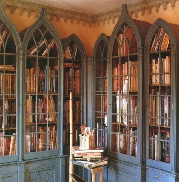 50 Bookshelves Designs Gothic Bookcase World Of Interiors Home