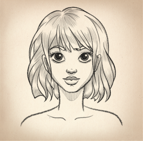 Drawing simple face - Tutorial #3 in 2020 | Girl drawing ...