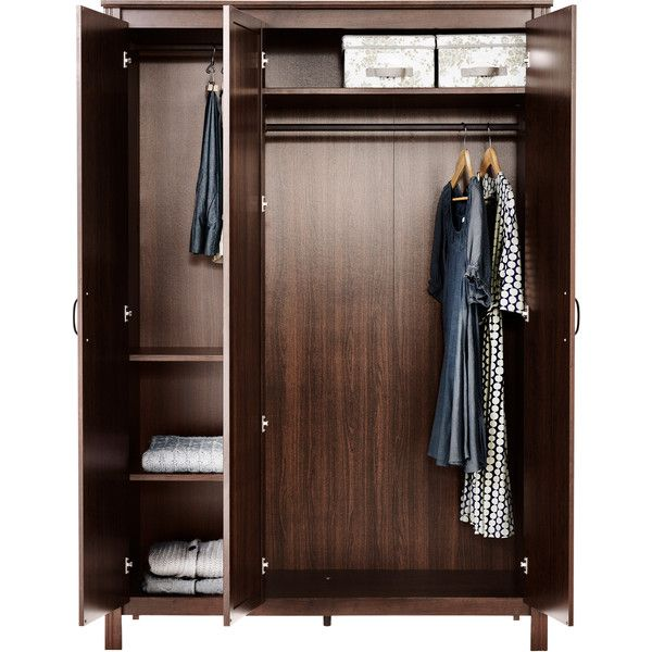 Ikea Brusali Wardrobe With 3 Doors Brown 249 Liked On