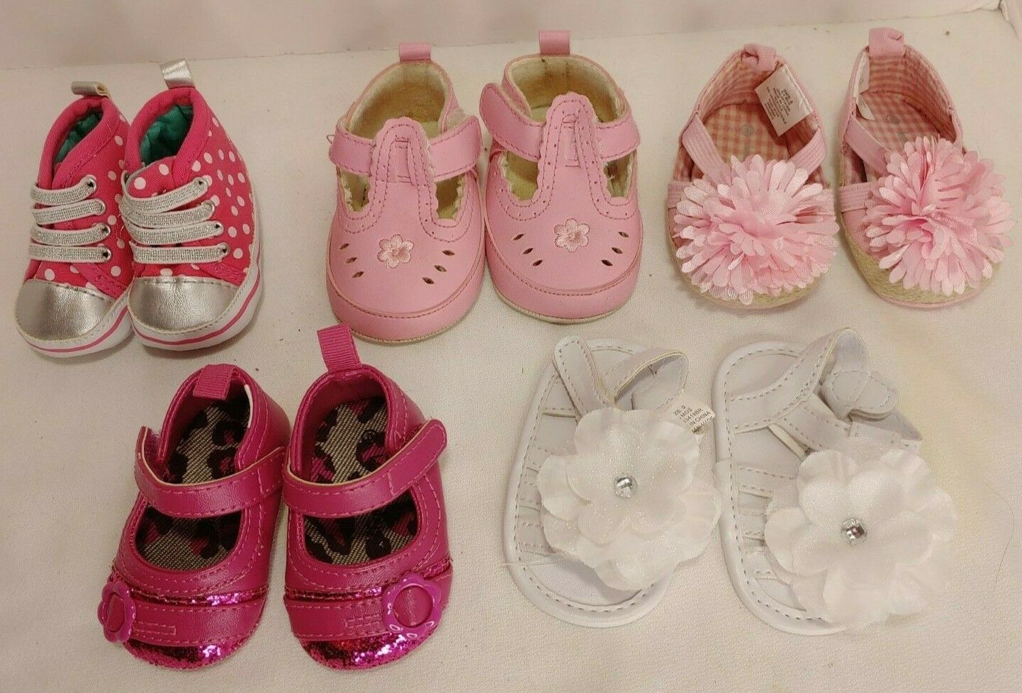 Infant Toddler Girl Shoe Lot of 6 pairs