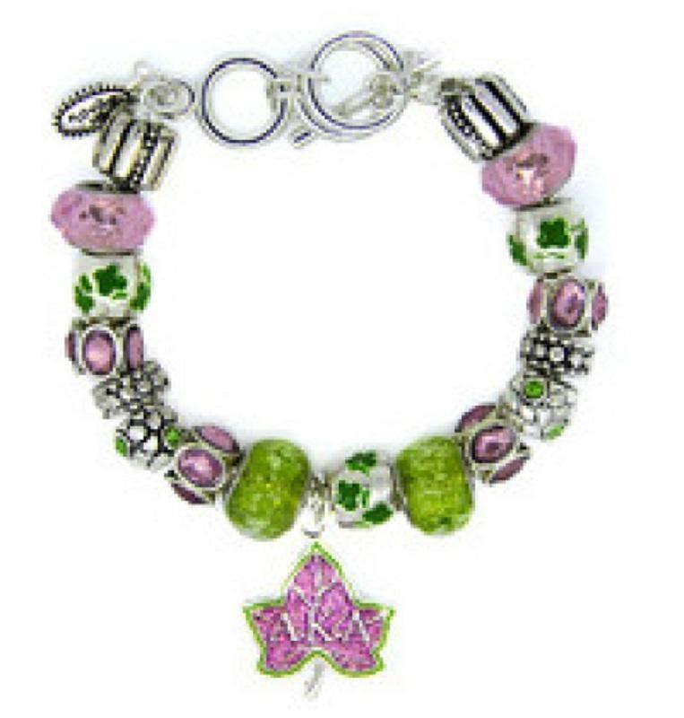 63d61e128 Alpha Kappa Alpha Pandora Style Charm Bracelet | Products | Alpha ...