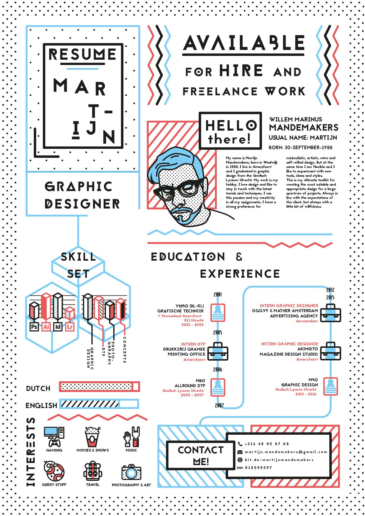 Graphic Designer Resume Templates Resume Graphic Designer Martijn Mandemakers Currently
