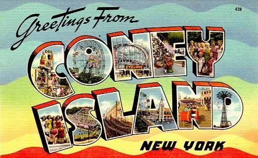 Coney Island, New York. #NYC #NewYork #vintage #postcard #coneyisland | Coney  island history, Coney island, Travel postcard