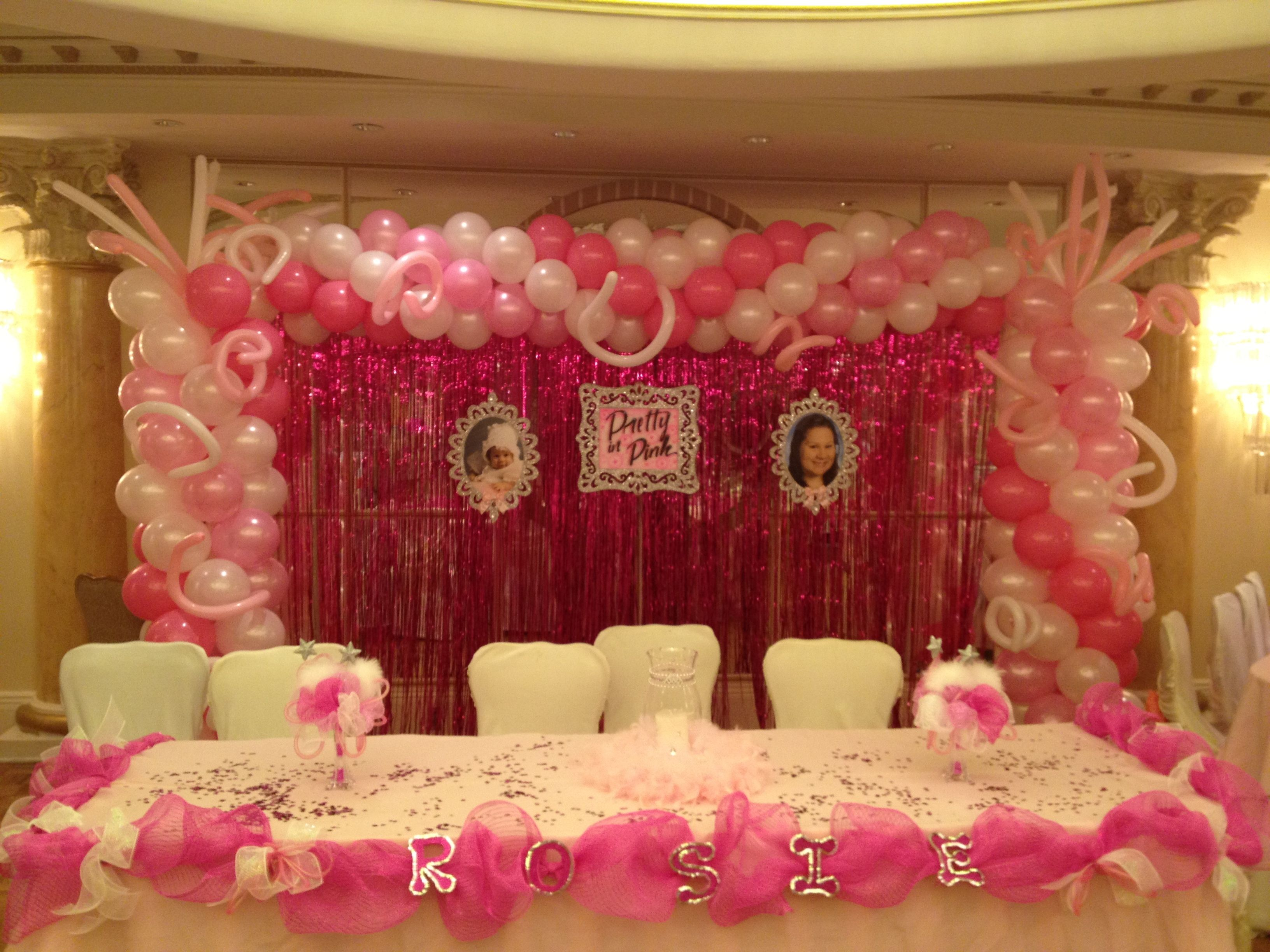 Sener table ideas balloon decor decoratoins in nj new for Balloon decoration ideas for quinceaneras
