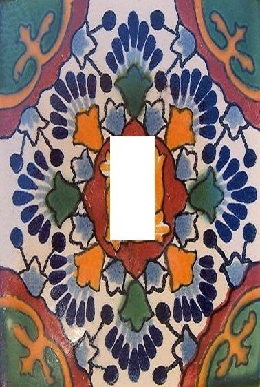 Mexican Tile Image Light Switch Plate Cover Stillwatersgifts