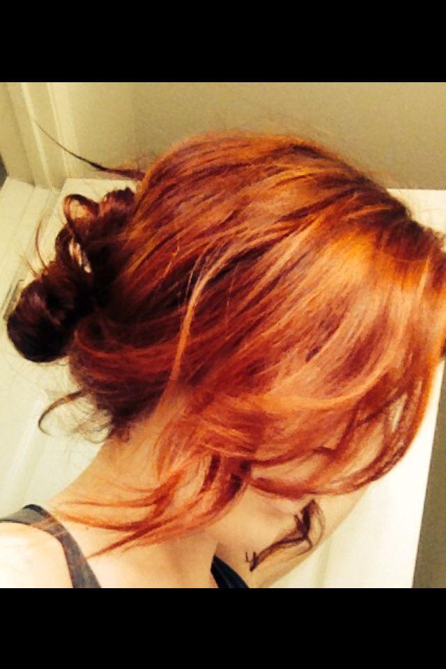 Red hair at aveda salon in rancho mirage #avedasalon Red hair at aveda salon in rancho mirage
