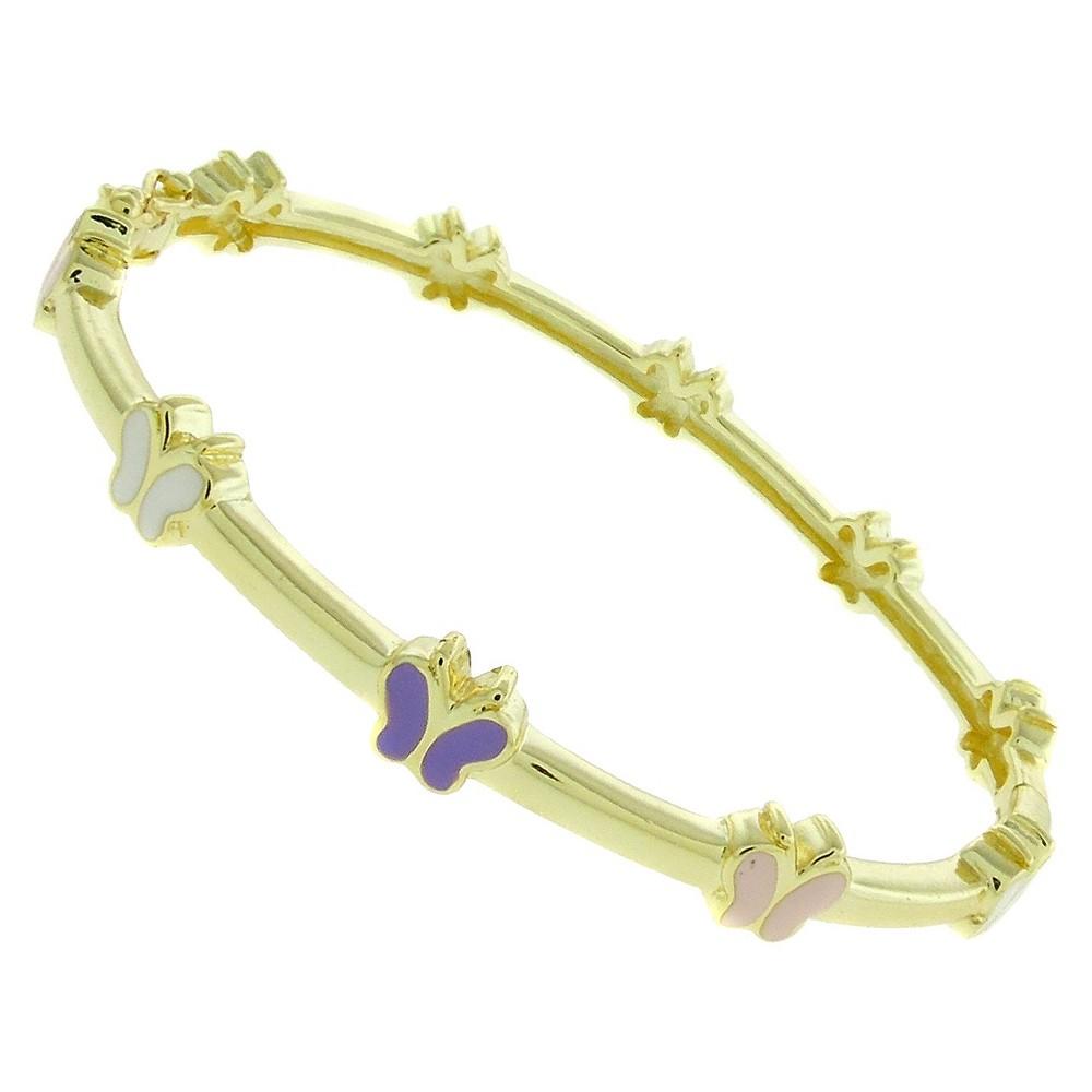 Ellen k gold overlay enamel butterfly design bangle multicolored