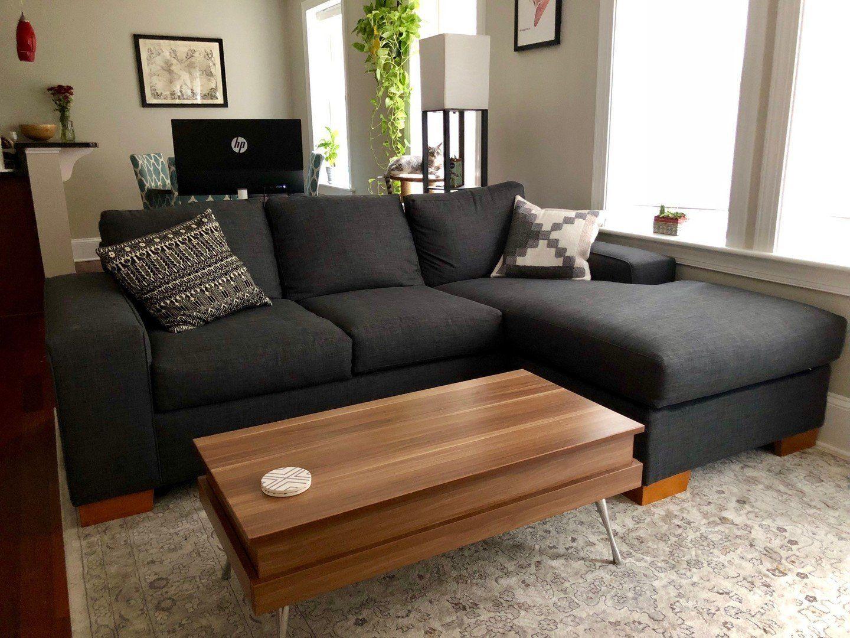 Melrose Reversible Chaise Sleeper Sofa Leg Finish Pecan