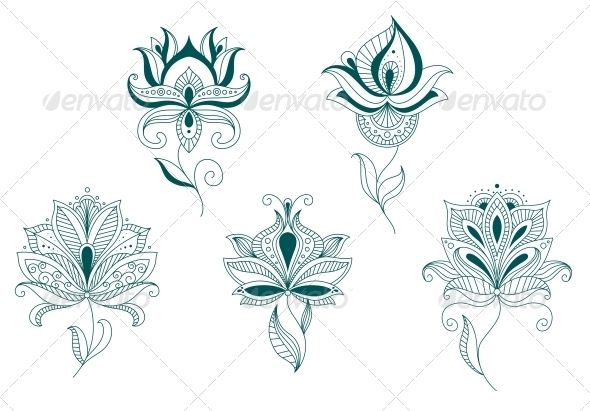 Abstract Flower Blossoms Set  #GraphicRiver         Abstract flower blossoms set isolated on white for design and decorate. Editable EPS8 (you can use any of your vector program) and JPEG (can edit in any graphic editor) files are included   SPORTS                                            MASCOTS                                               MEDICINE                                 FOOD                                              LABELS  …