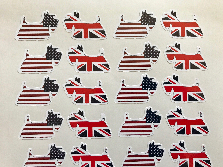 32 Scottie Dog Vinyl stickers envelope seals