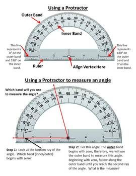 Using A Protractor To Measure Angles With Images Learning Math