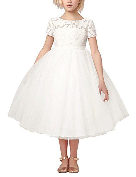 Tiaobug Mädchen Kinder Kleid Tüll Schichten Hochzeit Festzug ...