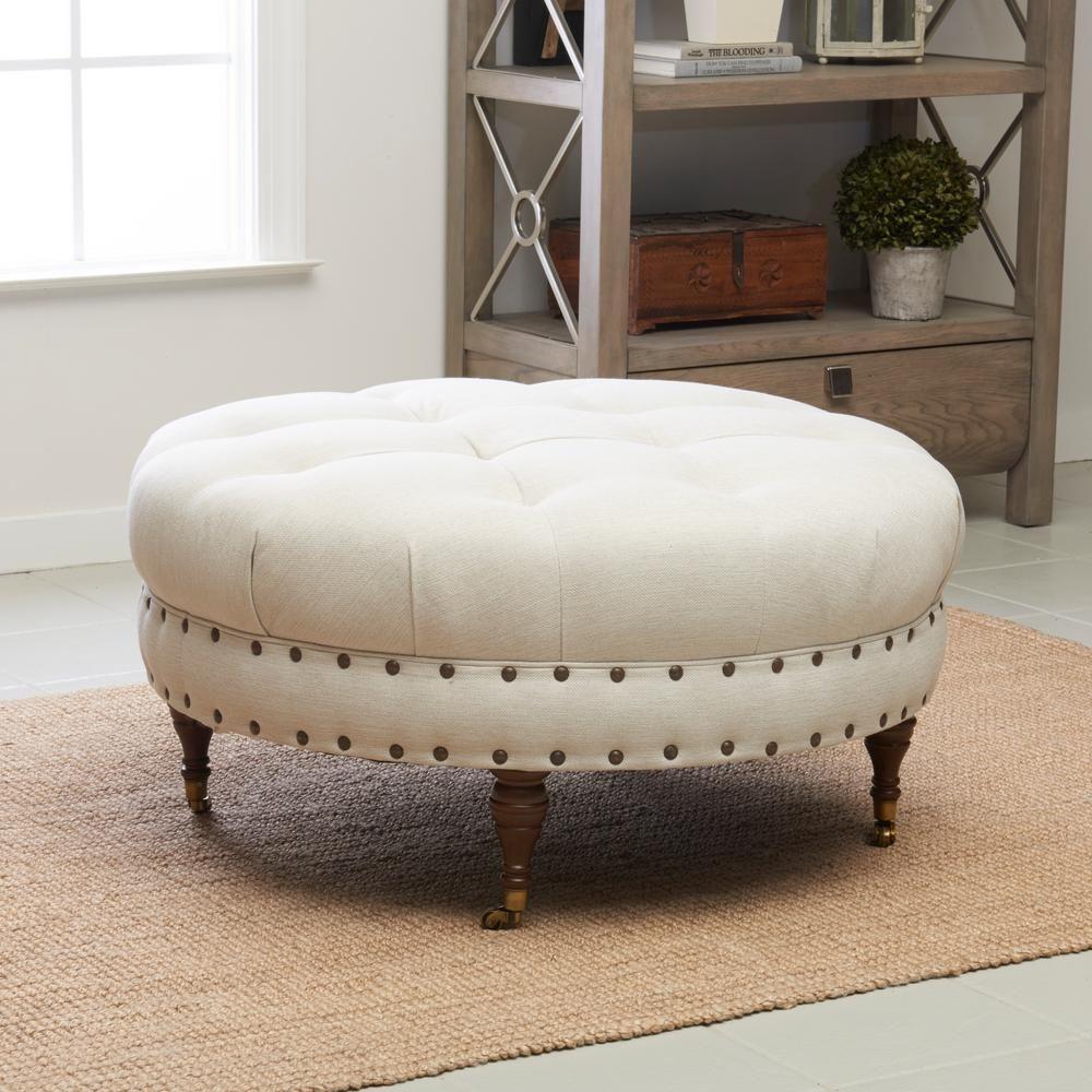 Janelle Beige Ottoman Beige Ottoman Klaussner Furniture Furniture