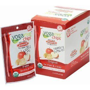 Yogavive Organic Apple Chips! With only 35 calories per serving, these bite size and crunchy apple chips are made from only all natural and certified organic ingredients. Learn more: http://www.low-caloriediet.com/snacks/yogavive-organic-apple-chips