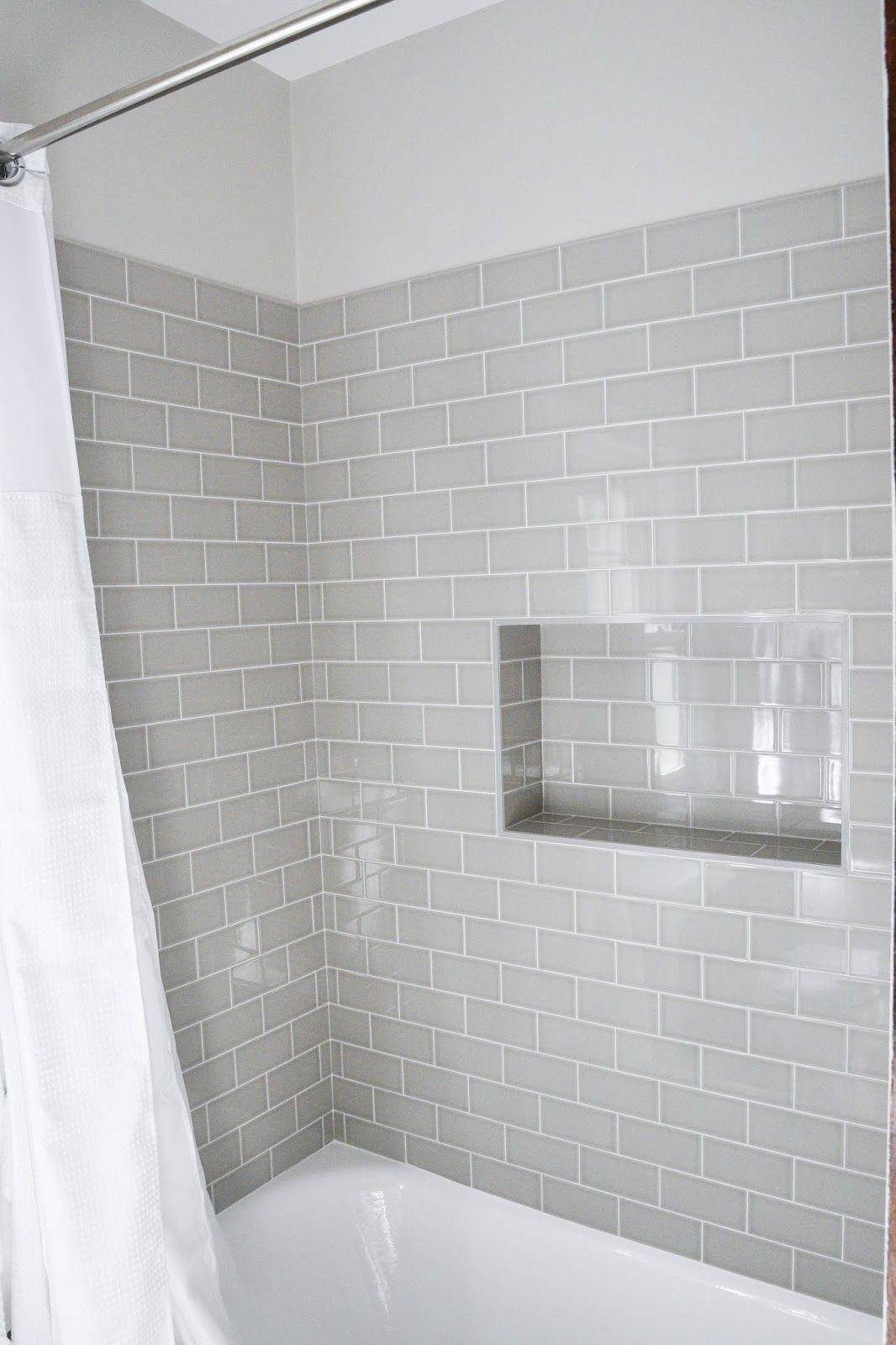 subway tile showers