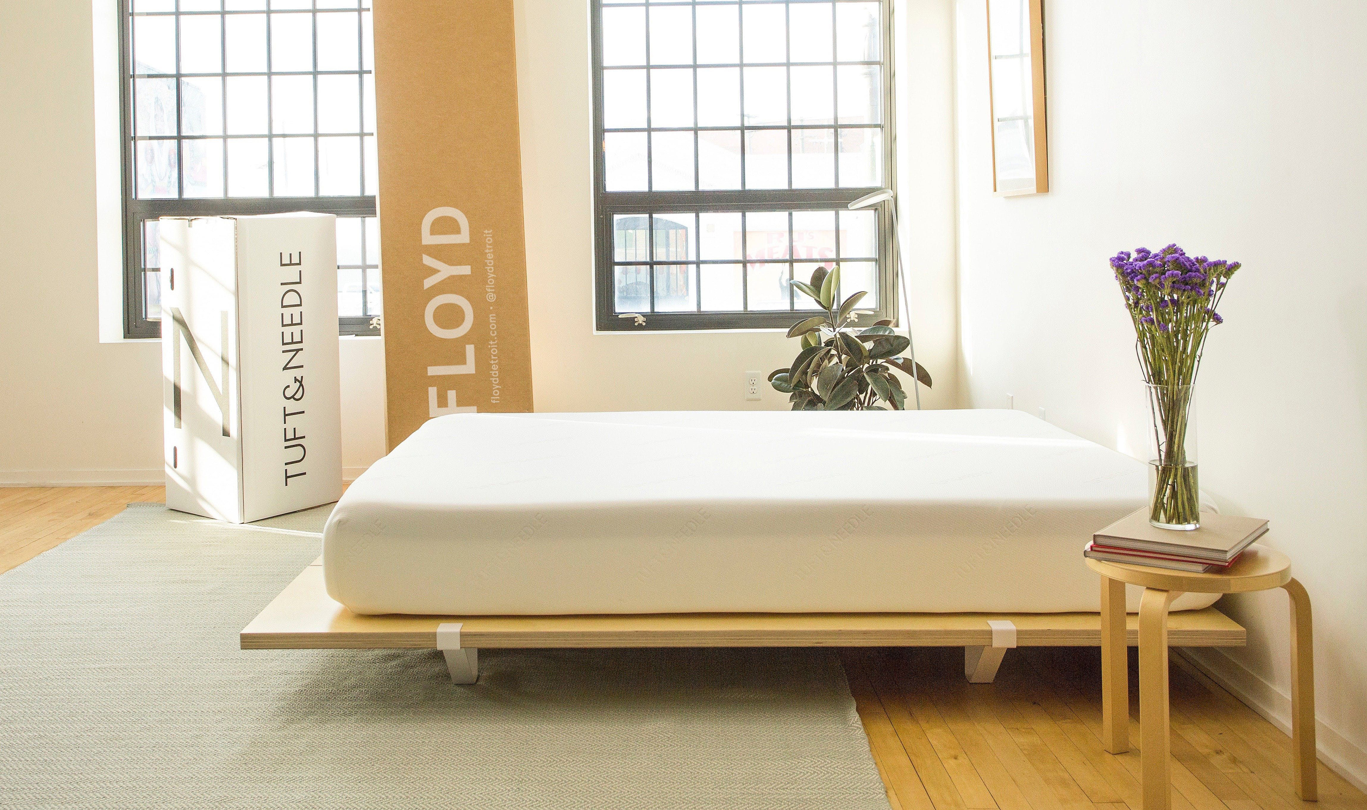 win the best bed ever from floyd and tuft needle platform bed