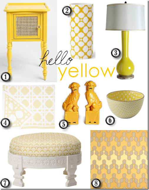 Friday Finds Decorating With Yellow Yellow Home Decor Yellow