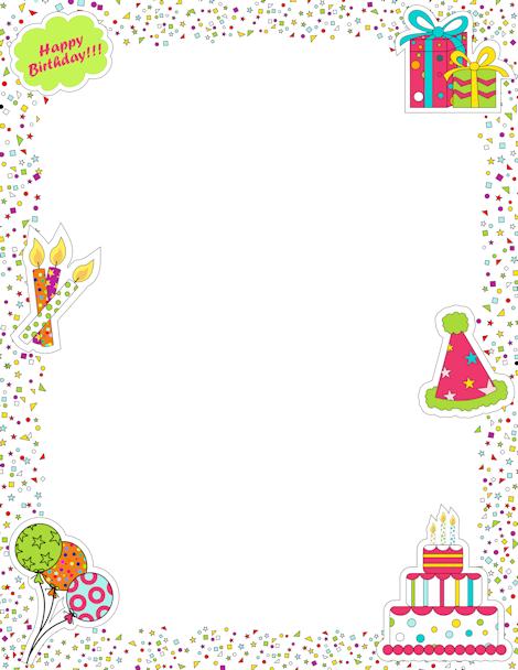 Birthday Border Clipart Free : birthday, border, clipart, Birthday, Border:, Border,, Vector, Graphics, Stuff,, Borders,, Boarders, Frames