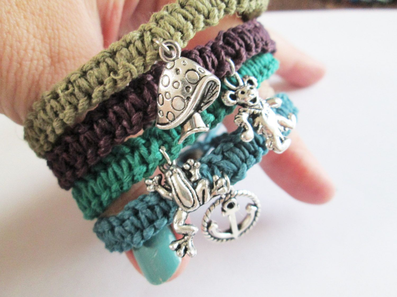 artificial bracelets pin and bell knit anklets anklet ceramic small handmade ankle