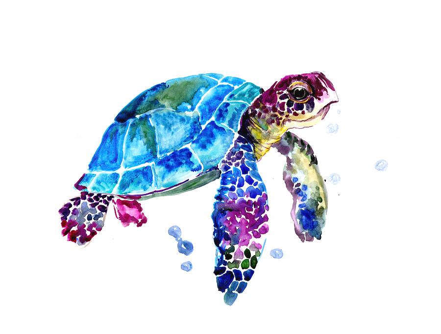 Sea Turtle By Suren Nersisyan Turtle Painting Turtle Watercolor Sea Turtle Art