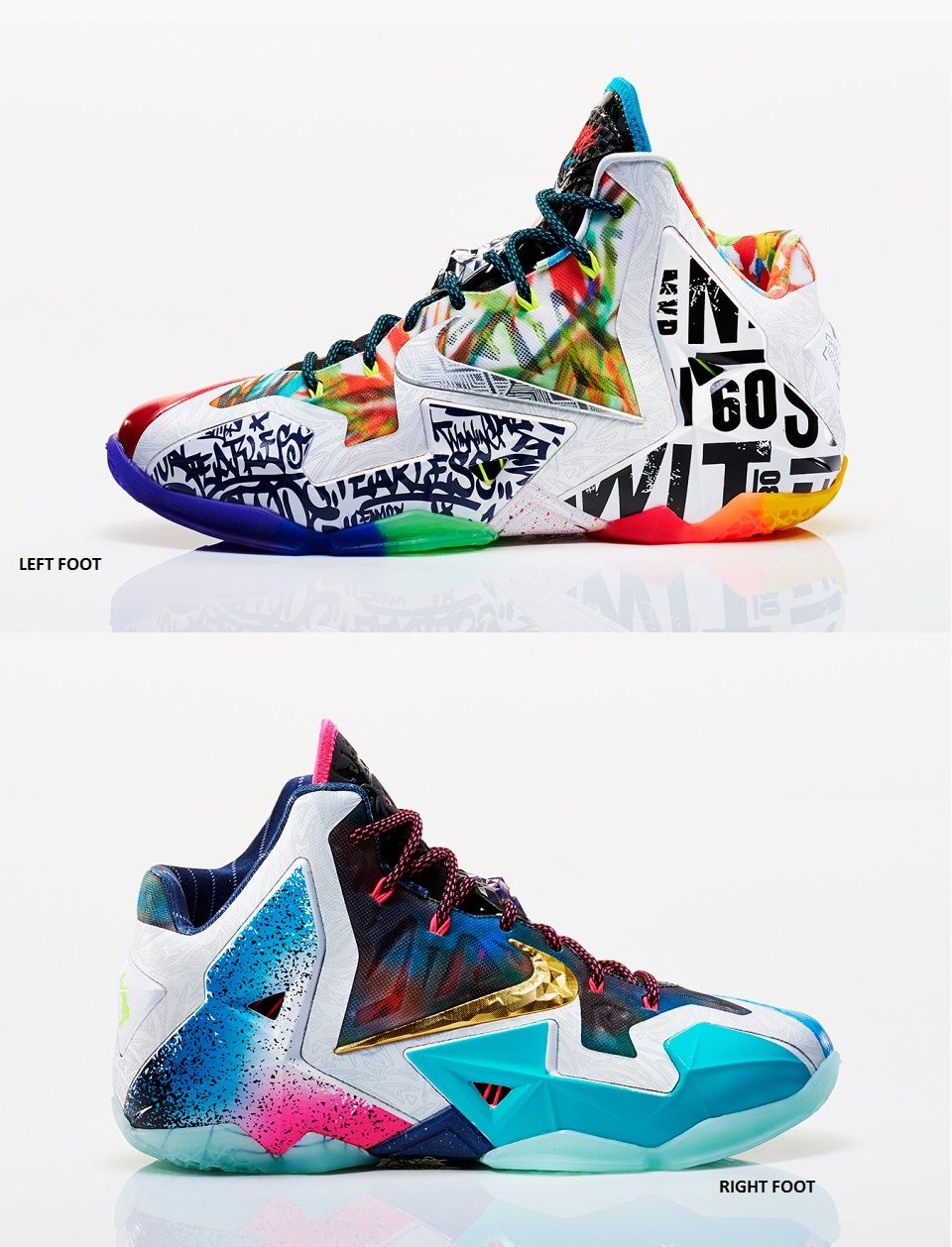 "the latest 96efa bc6c8 Nike LeBron 11 ""What The LeBron"" Hip Hop Sneakers, Hip Hop Shoes,"