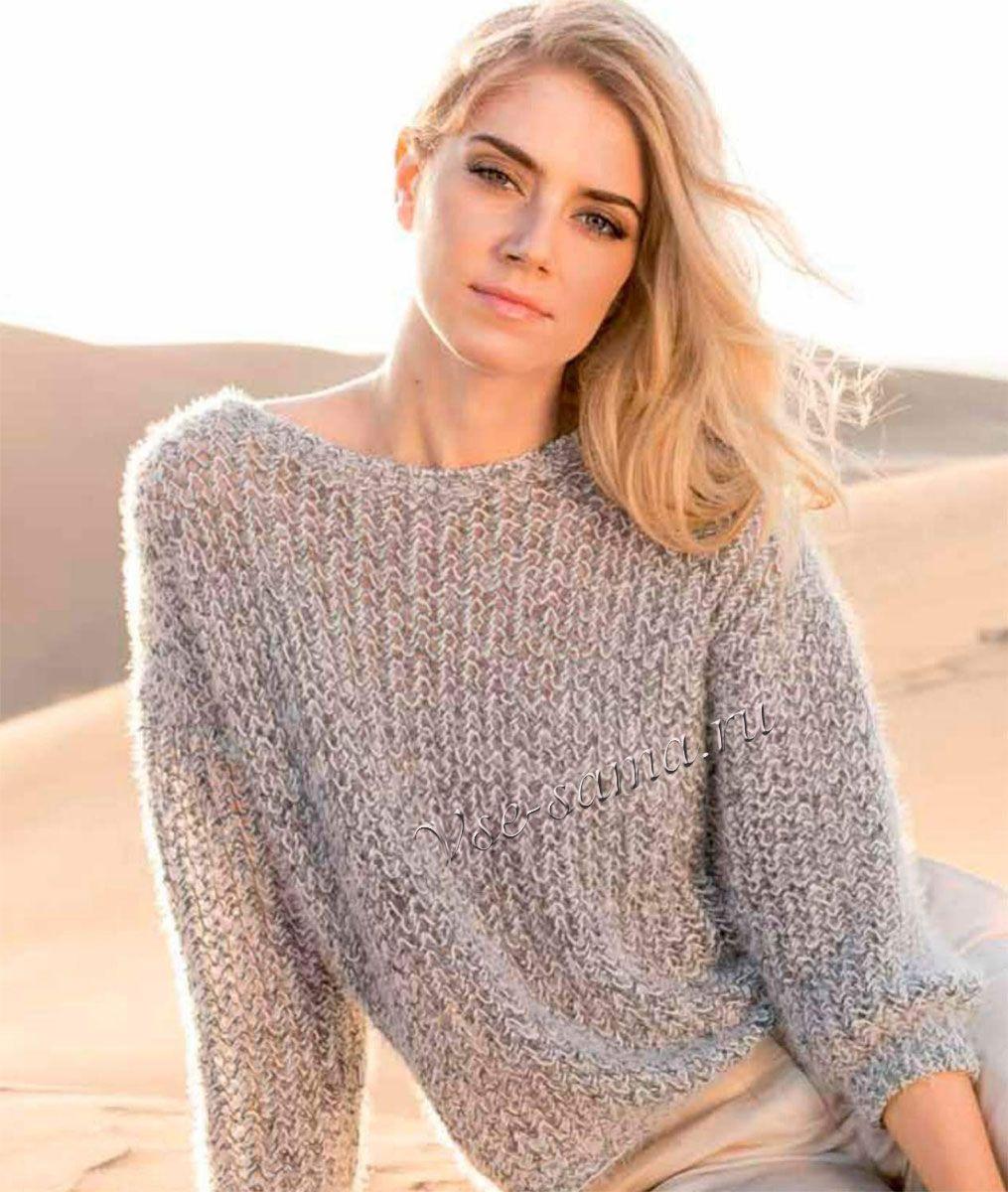 Пуловер - небрежность фасона | Knitting | Pinterest | Chaquetas y Puntos