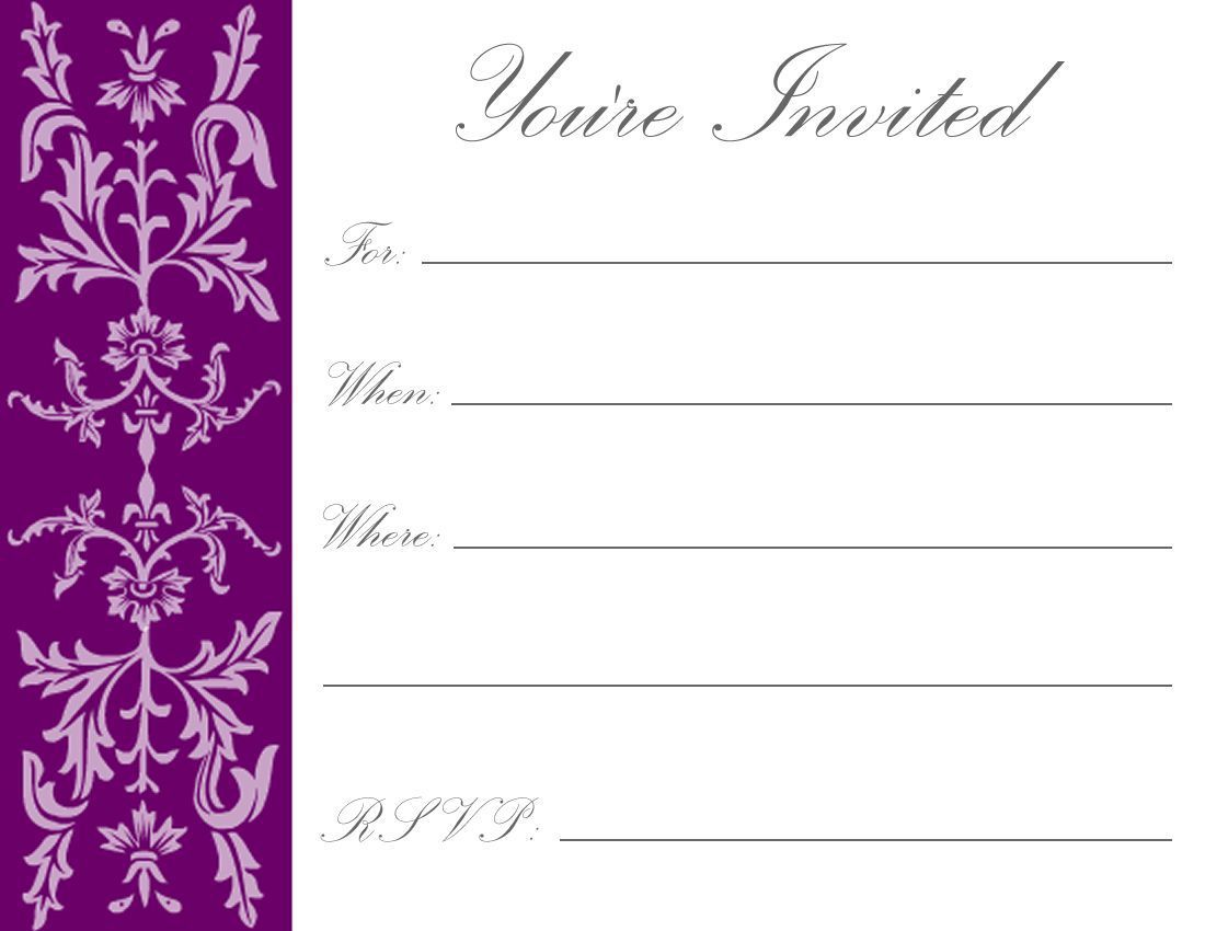 Free Online Invitation Templates To Printfree
