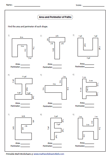 Path Large Png 353 503 Perimeter Worksheets Geometry Worksheets Area Worksheets