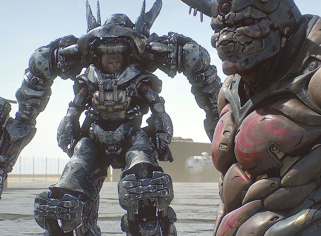 Exo Suit From Appleseed Alpha Apple Seeds Cyberpunk Martial Arts Movies