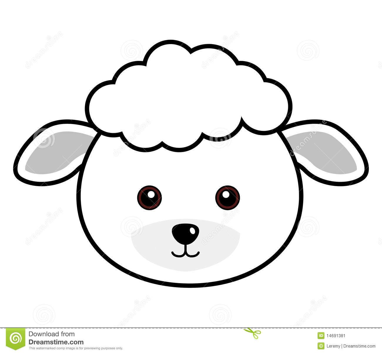 Cute Sheep Face Sheep Face Cute Sheep Sheep Template