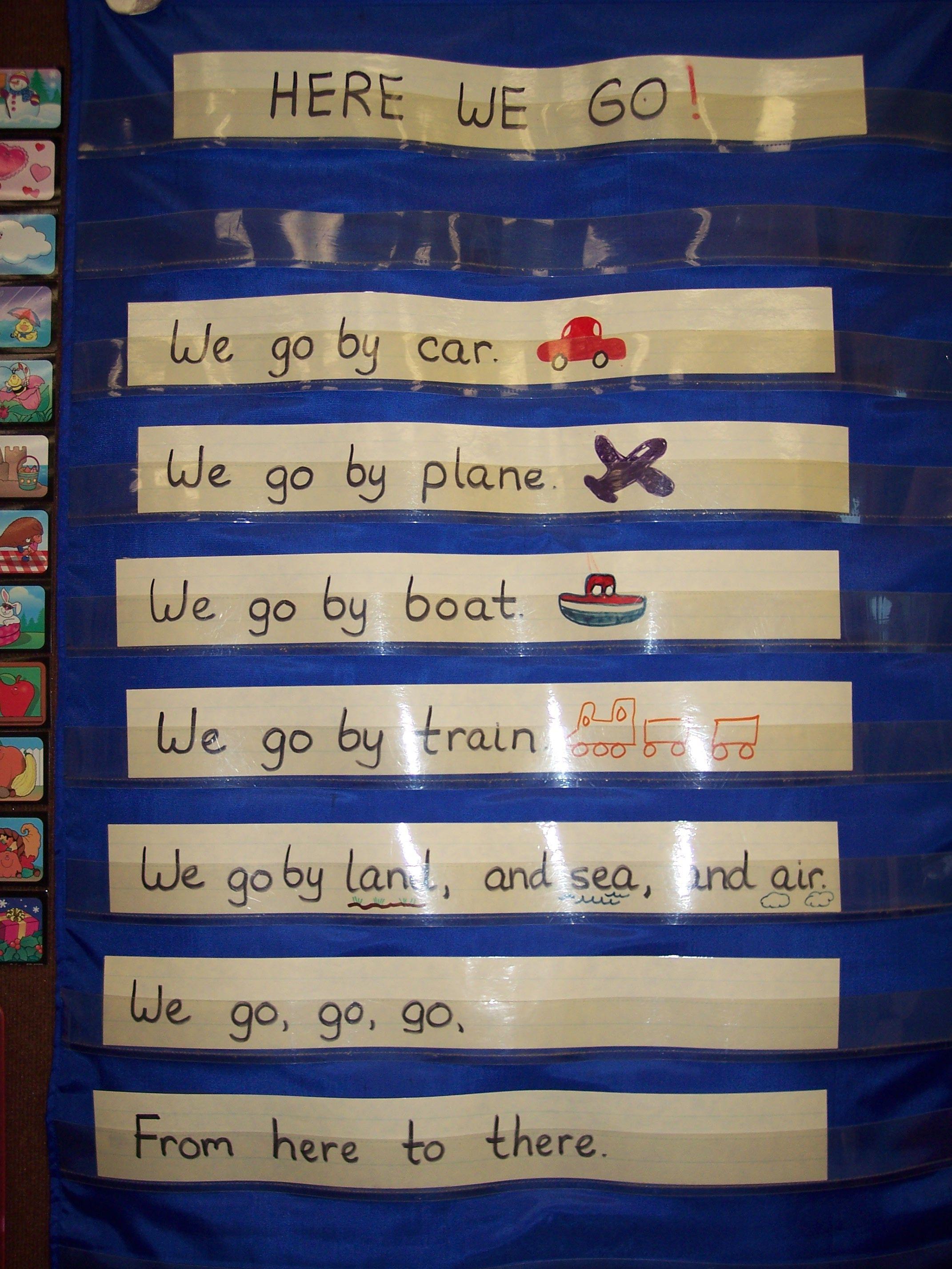 Here We Go School Crafts Transportation Theme