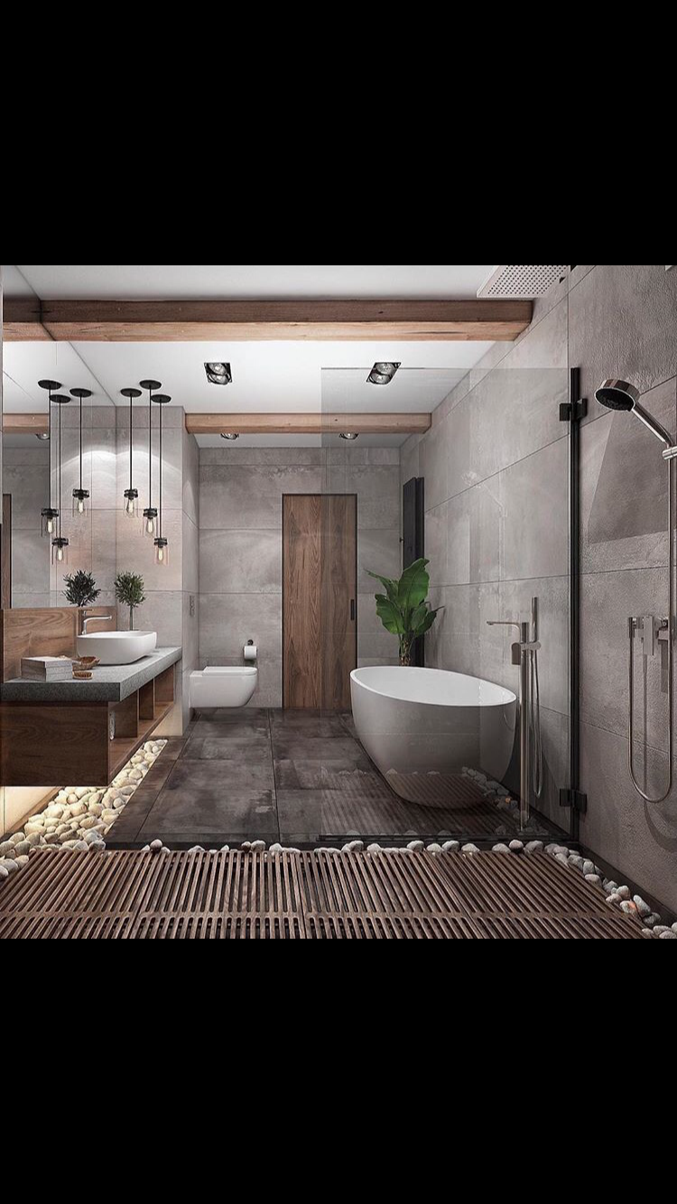 Clever Use Of Stones Gives This Bathroom It 39 S Tranquility