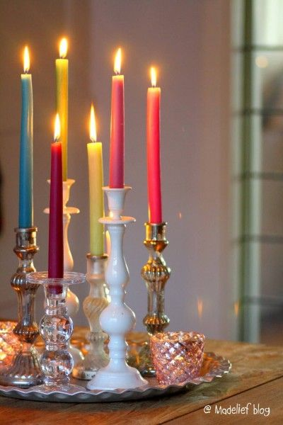 Photo of Vintage Holders, Festive Tapers Candles