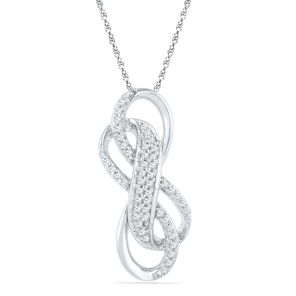 Double infinity knot necklace shpf073360daw double infinity double infinity knot necklace biocorpaavc Image collections