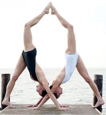 crissy  kimmy  twins yoga and yoga poses