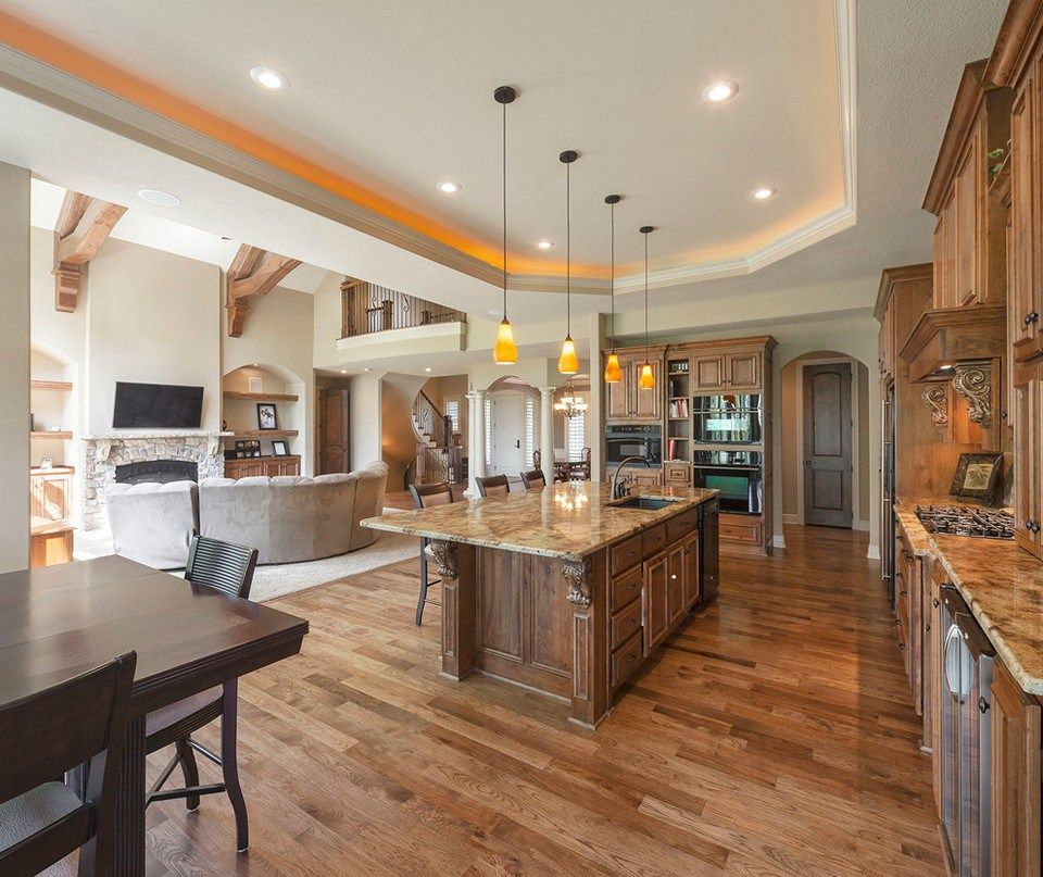 Open Concept Kitchen And Living Room Décor: Open Concept Kitchen Unifies Kitchen Parts House Left