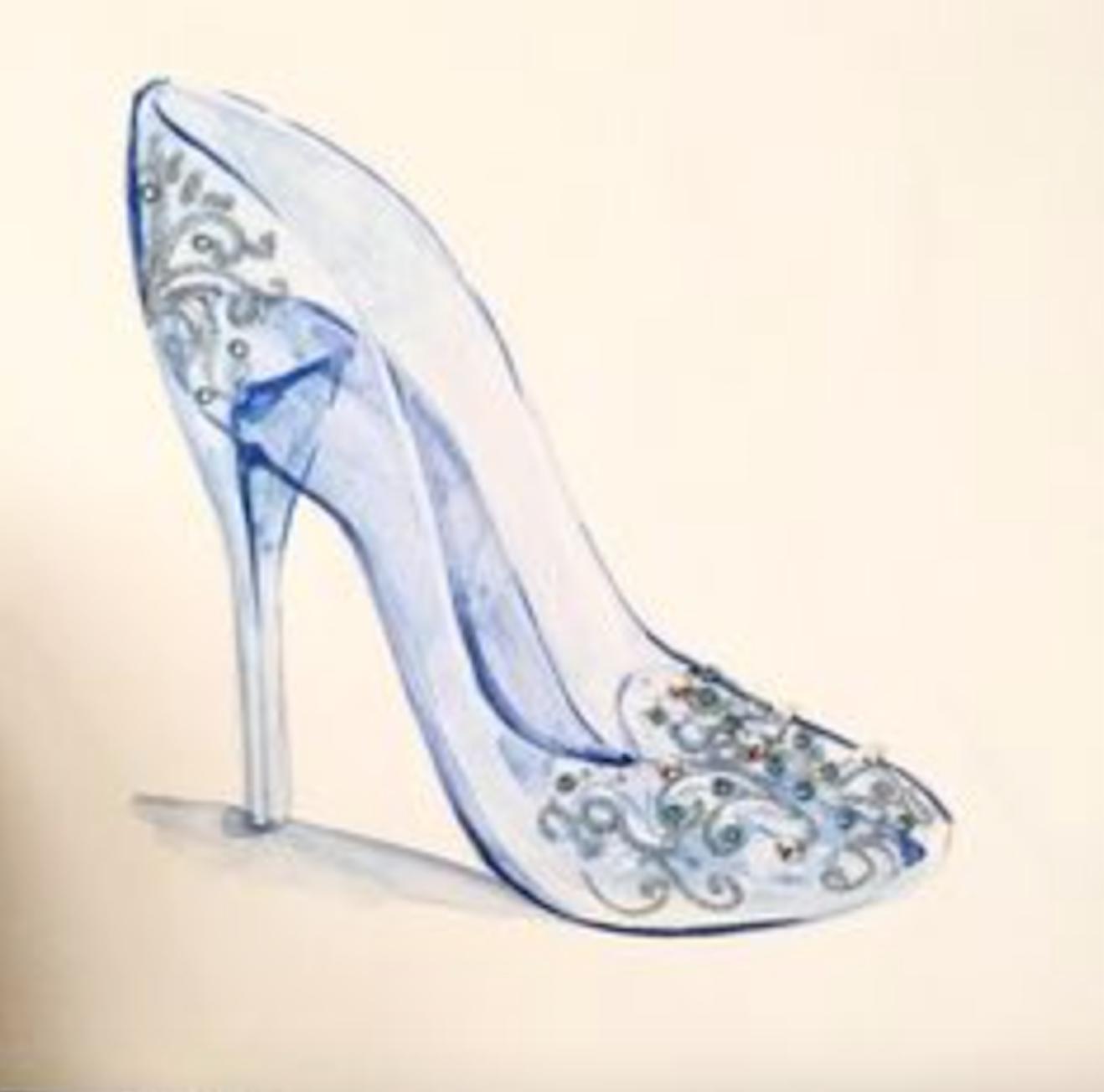 Upon Life SlipperOnce A Glass De Cinderella's My Zapatilla Rqc3ALS54j