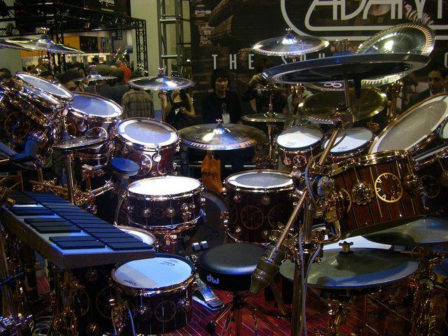 Neil Peart Time Machine Drum set by dandauz, via Flickr