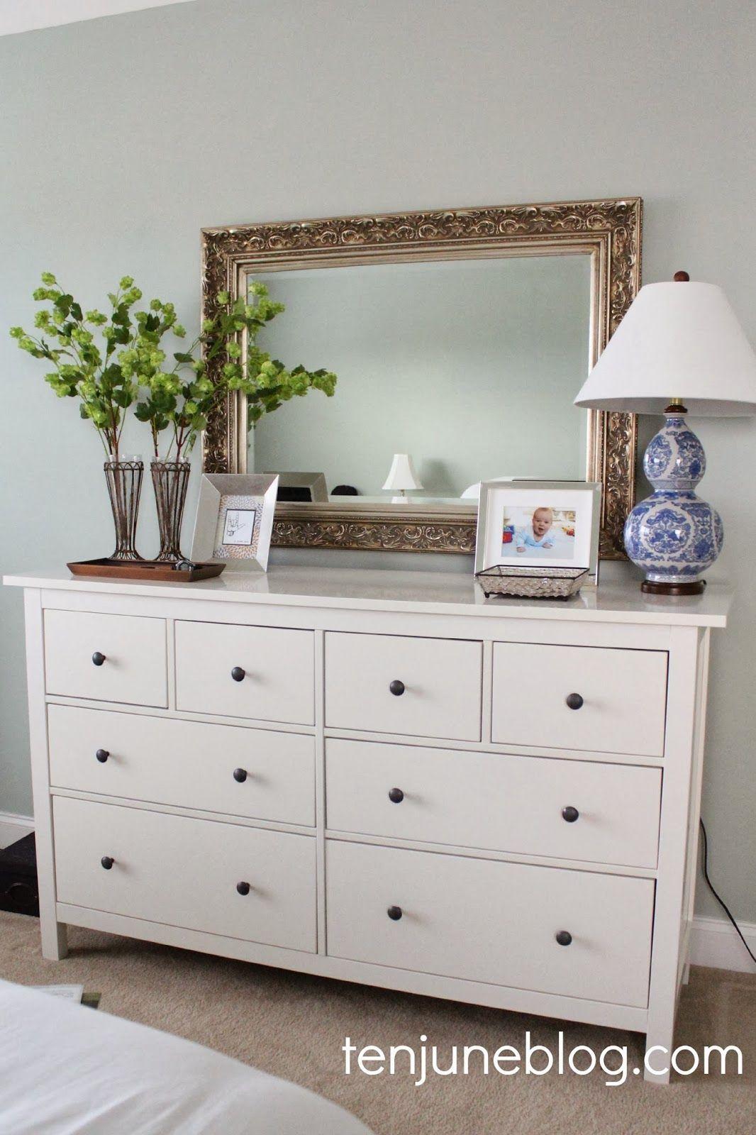 Captivating Master Bedroom Dresser Vignette