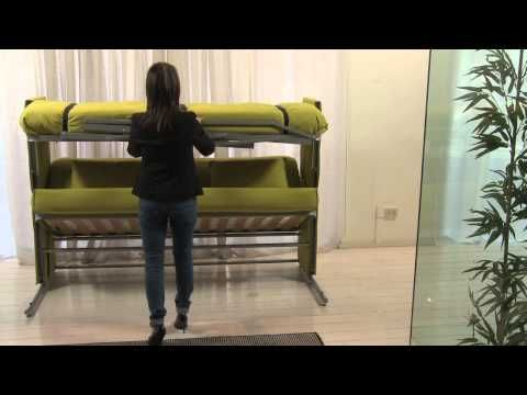 A Sofa That Transforms Into A Bunk Bed...LOVE! Clei System Doc Sofa Bunk Bed