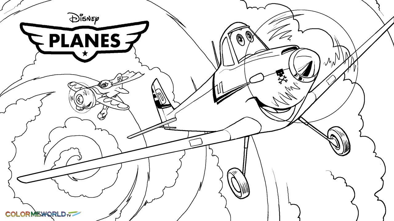 Planes Dusty Colouring Pages Color Page Dibujos Imprimir Sobres