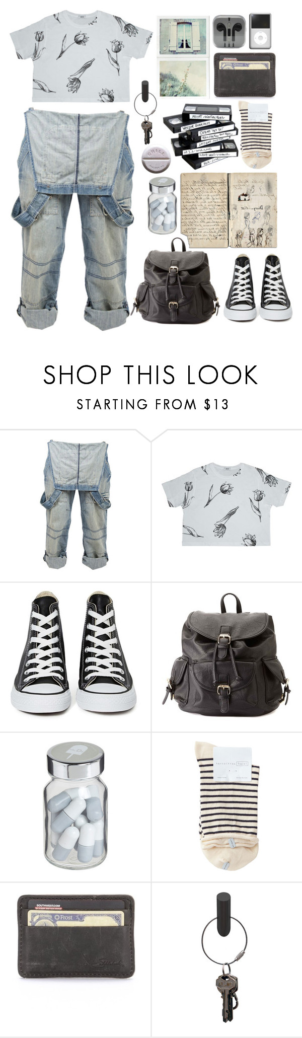 """""""Roll Back The Clock"""" by daizydreamer ❤ liked on Polyvore featuring Crafted, Bundy & Webster, Converse, Charlotte Russe, Vita, Hansel from Basel and PA Design"""