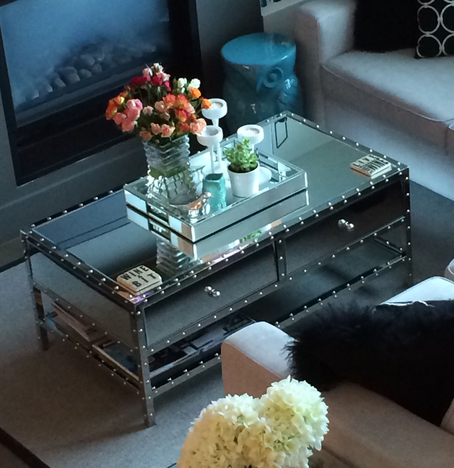 Urban barn Mirror coffee table Love