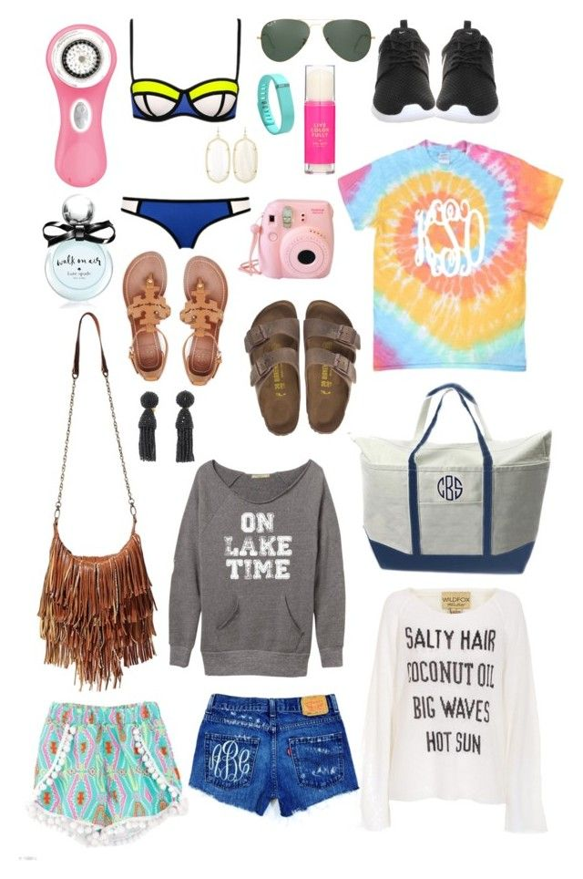 """Summer 2K15 wish list"" by kaley-ii ❤ liked on Polyvore featuring Clarisonic, Ray-Ban, Fitbit, Kate Spade, NIKE, Kendra Scott, CB Station, Birkenstock, Steve Madden and Wildfox"