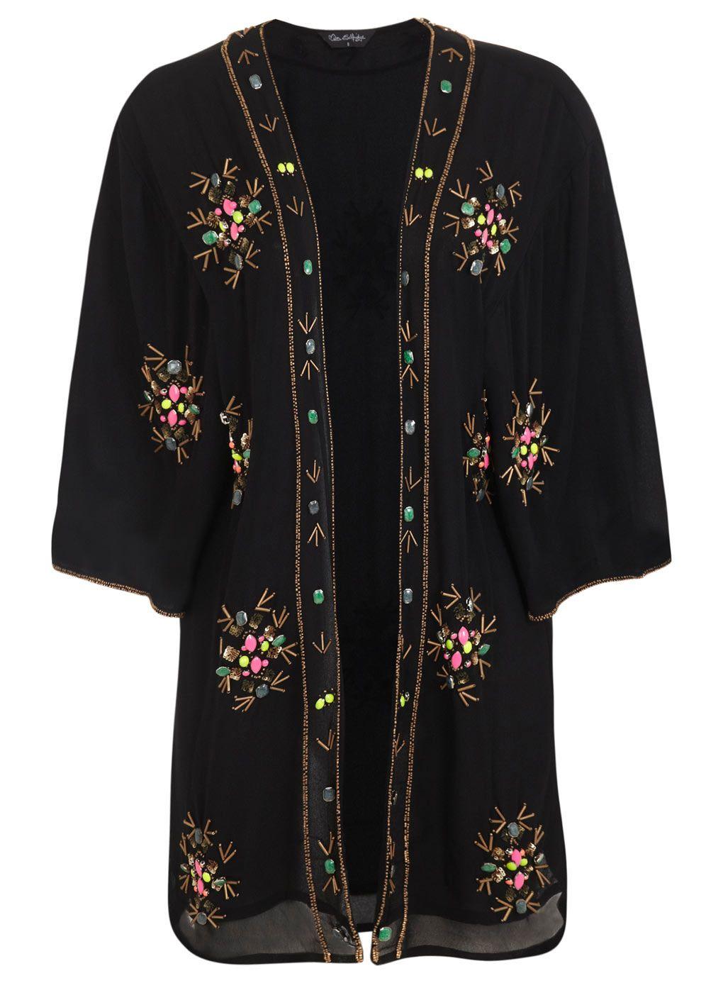 Black Embellished Kimono 65.00