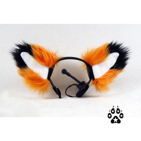 PURPLE FOX ears furry kitty cat EAR wolf NECOMIMI COVERS ONLY cosplay anime