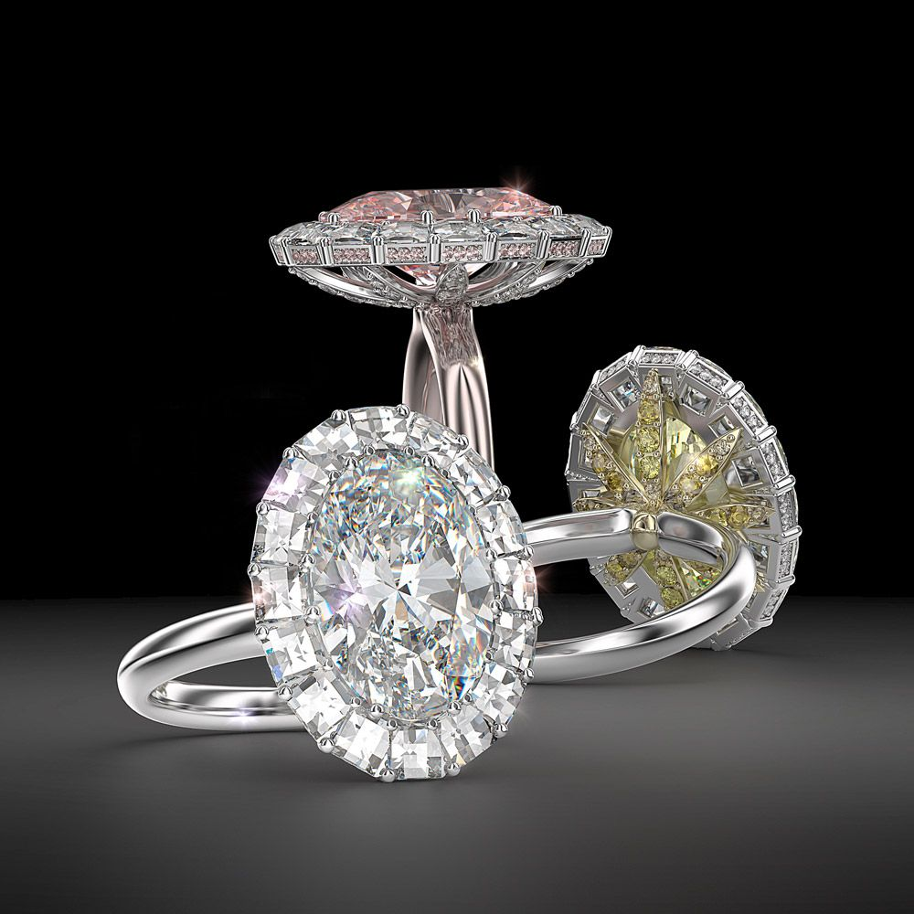 5 Carat Oval Diamond And Blaze Engagement Ring Pink Diamond Engagement Ring Pink Diamonds Engagement Oval Pink Diamond Engagement Ring