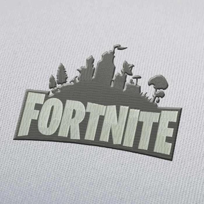 Fortnite Skyline Embroidery design for Instant Download