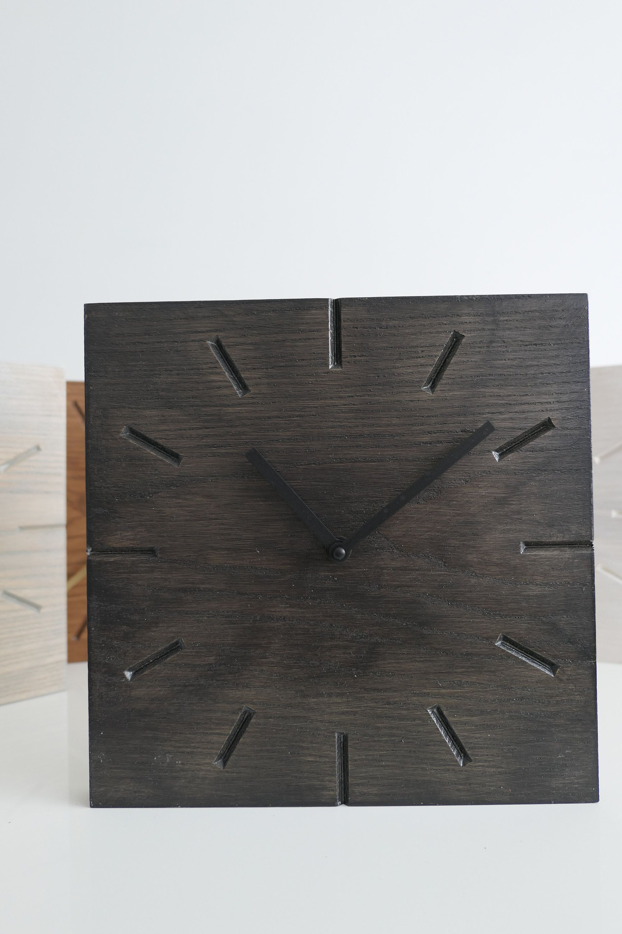 A Personal Favorite From My Etsy Shop Https Www Etsy Com Listing 609021395 10 Modern Wooden Square Wall Clock Slate Square Wall Clock Clock Wall Clock